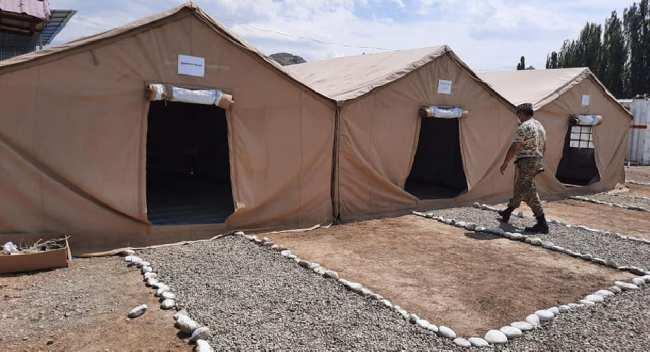 В Оше разбили палаточный городок. Готовятся к ухудшению ситуации
