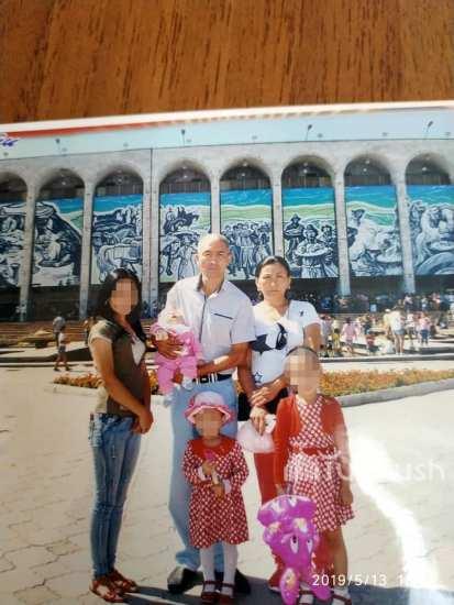 Нурлан Абдышев вместе с семьей